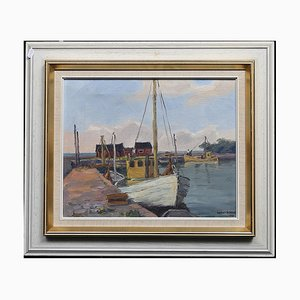 Gustav Berlin, Skåre Fish Camps, Oil Painting on Canvas