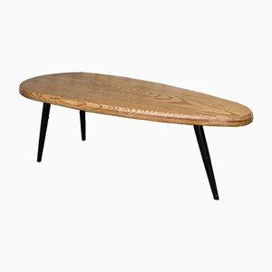 Ovaler Mid-Century Tisch im Charlotte Perriand Stil