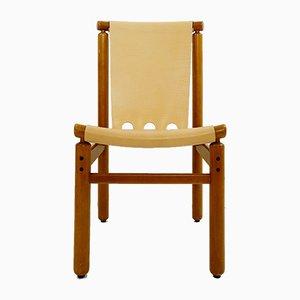 Italienische Leder Esszimmerstühle von Ilmari Tapiovaara für La Permanente Mobili Cantù, 1950er, 6er Set