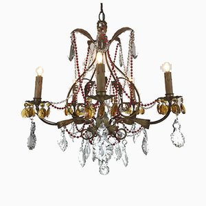 Chandelier with Red Crystals