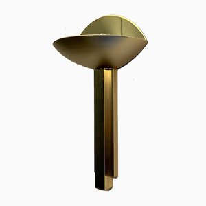 Italian Half Moon Brass Lamp, 1975