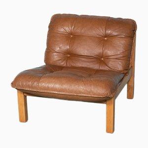 Vintage Cognac Leather Lounge Chair