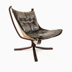 Norwegischer Falcon Chair von Sigurd Resell für Vatne Møbler, 1970er