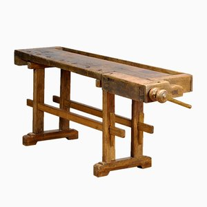 Oak Carpenter's Workbench, 1900s