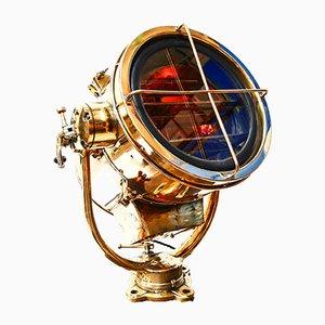 Lámpara antigua con código Morse
