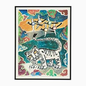 Kim Ki-Chang, Mystischer Stern des Orients, 1988, Lithographie
