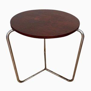 Tavolino da caffè S 211 in acciaio tubolare di Fritz Hansen, anni '30