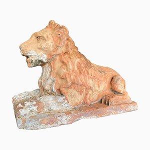 Antique Terracotta Lion
