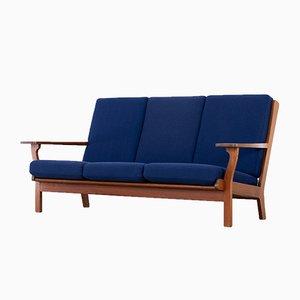 Danish Teak GE-320 3-Seater Sofa by Hans J. Wegner for Getama, 1956