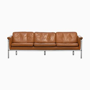 German Leather 3-Seater Sofa by Horst Brüning for Kill International, 1967