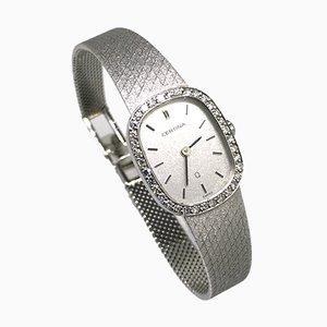 Vintage Uhr in Weißgold & Diamant von Certina, 1983