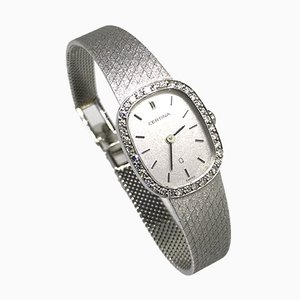 Vintage White Gold & Diamond Womens Watch from Certina, 1983