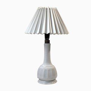 Weiße Skandinavische Porzellan Tischlampe von Bing & Grondahl, 1950er
