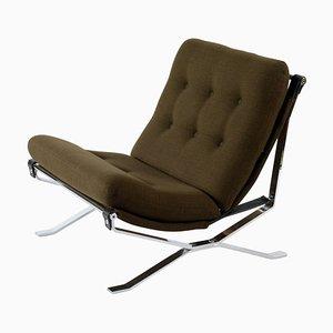 Mid-Century Chrome Metal Italian Armchair, 1960s