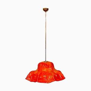 Murano Deckenlampe mit Seerosen von Toni Sugars für Venini, Italien, 1968