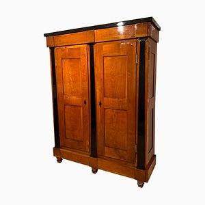 Large Biedermeier Armoire in Cherry Solid Wood, Southwest Germany, 1820s