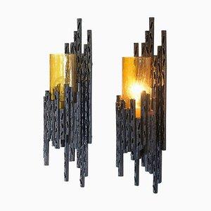 Brutalistische Wandskonen von Marcello Fantoni von TON, 1960er, 2er Set