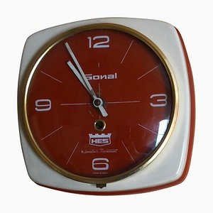 Indian Wall Clock in Heavy Metal Case