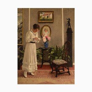 Paul Gustav Fischer, 1860-1934, Denmark, Oil on Canvas, The Letter