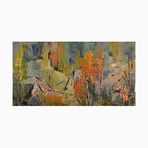 Greta Liljeblad-Lysén, Schweden, Öl auf Leinwand, Abstrakte Komposition