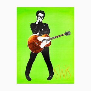 Elvis Costello Poster, 1978, Barney Bubbles
