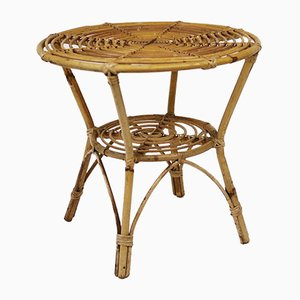 Vintage Bamboo Side Table, 1970s