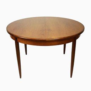 Mesa de comedor extensible vintage redonda de teca de Victor Wilkins para G-Plan, años 60