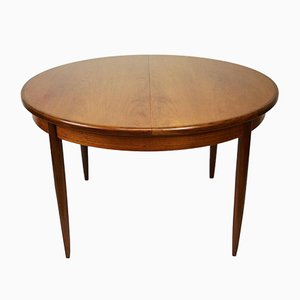 Vintage Round Extendable Teak Dining Table by Victor Wilkins for G-Plan, 1960s