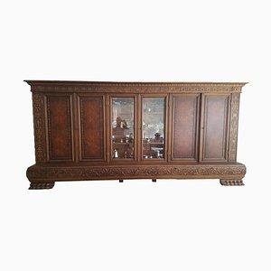 Antiker Wohnzimmerschrank aus Massivem Holz