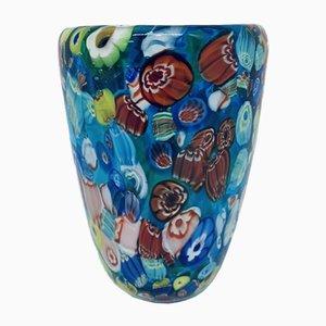Italian Millefiori Murano Glass Vase