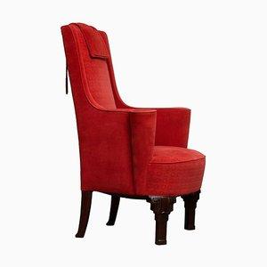 Art Deco High Back Easy Chair in Villa Gallia Style, Austria, 1930s