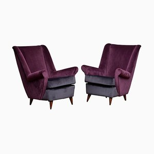Lounge / Easy Chairs by Gio Ponti for Isa Bergamo, Italy, 1950s, Set of 2