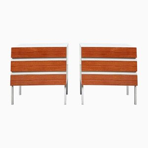 Mid-Century German Chest Bedside Drawers from Interlübke, Set of 2