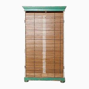 Antique Wood Flat-File Cabinet