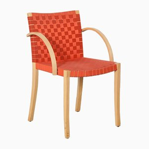 Nr 757 Chair in Red-Orange by Peter Maly for Thonet