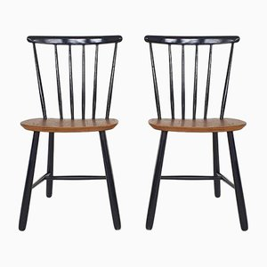Spindle Back Chairs Model SH55 from Pastoe, 1950s, Set of 2