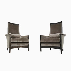 63970 Lounge Chairs by Umberto Asnago for Giorgetti Peggy, Italy 1990s, Set of 2