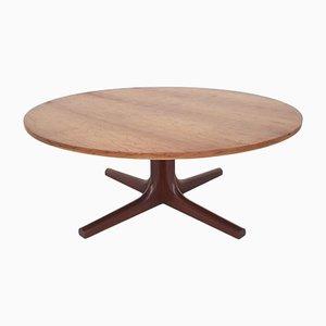 Round Rosewood Veneer Coffee Table, 1960s