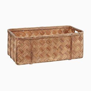 19th Century Swedish Rustic Pine Woven Basket