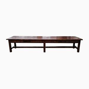 Sehr langer Laboratory Solid Fichtenholz Tisch, 1900er