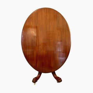 Antiker ovaler ovaler Mahagoni Tisch aus 19. Jh