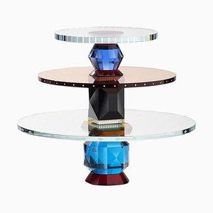 Feines handgeschnittenes Oklahoma Tablett aus Kristallglas