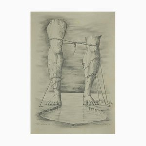 Unknown, The Colossus of Rhodes, Pencil on Paper, 1989