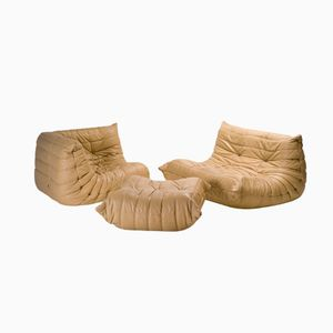 Togo Living Room Set by Michel Ducaroy for Ligne Roset, Set of 3