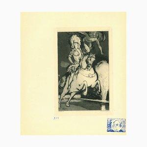 Henri Color, Horse, Etching, 1923