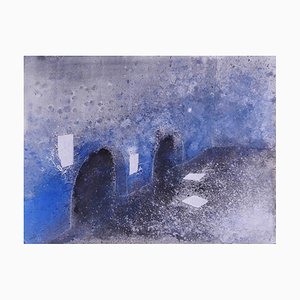 Unknown, Roman Subterranean, Mixed Media Drawing, Late 20th Century