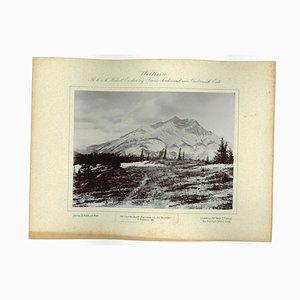 Unknown, Kanada, Bauff Panorama von the Hoodoh, Original Vintage Photo, 1893