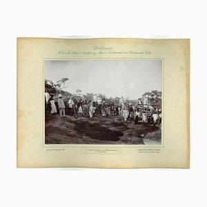 Unknown, Ceylon, Descent From Dambool Temple, Original Vintage Photo, 1893