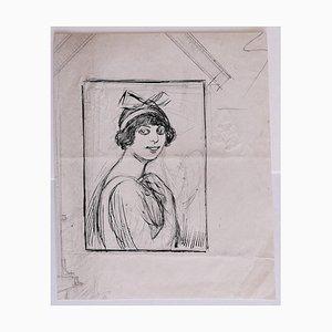 Gabriele Galantara, Portrait, Bleistift und Feder, 1909