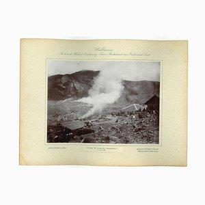 Unknown, Java, the Papundujyan Crater, Original Vintage Photo, 1893